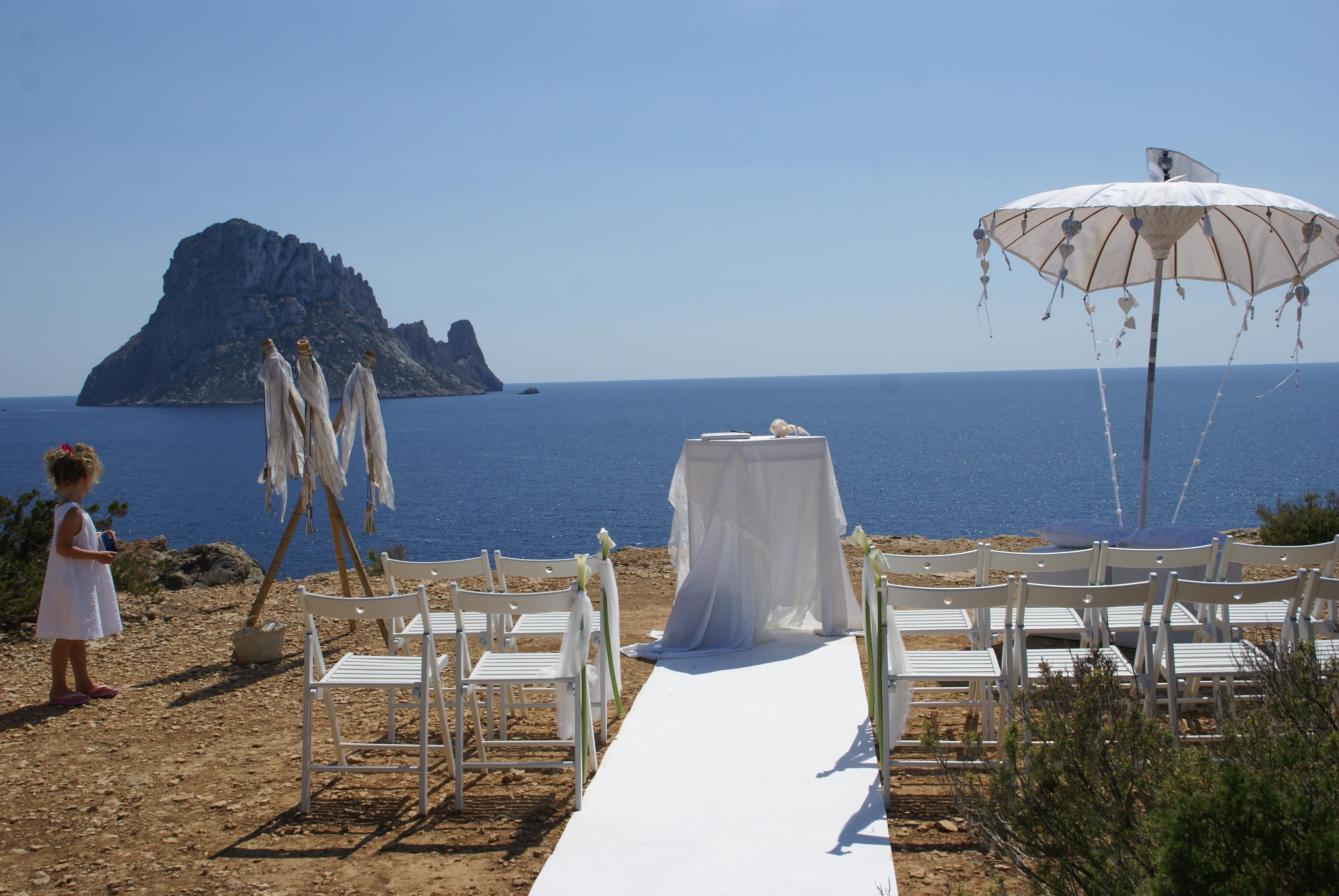 Bruiloft met uitzicht op Es Vedra